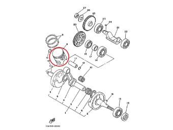 Original Yamaha Kolben (0,25 MM UG ) 10V-11635-00-00