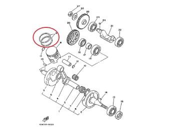 Original Yamaha Kolbenringsatz 10W-11610-10-00