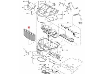 Original Yamaha Luftfilter 14B-14451-00-00