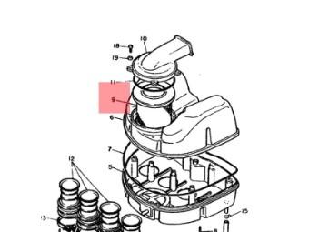 Luftfilter Original Yamaha 1WG-14451-00-00