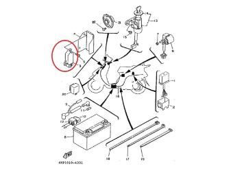 Original Yamaha Gleichrichter 3KW-H1960-03-00