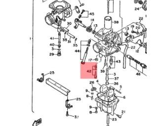 Original Yamaha Leerlauf Luftschraubensatz 50M-14105-00-00