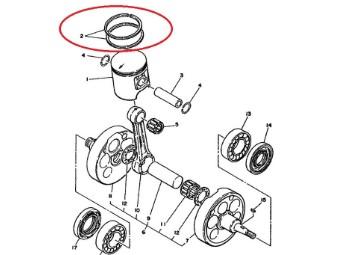 original Yamaha Kolbenringsatz 5X6-11601-00-00