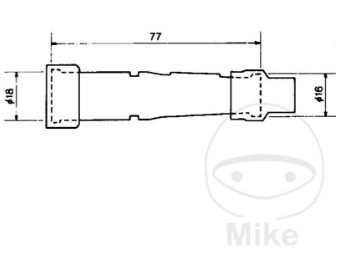 Zündkerzenstecker SB05F schwarz NGK