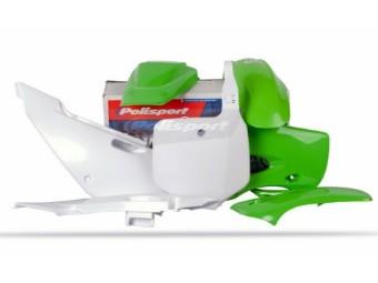 Plastiksatz KLX110 03-09 grün/weiß