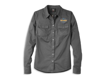 Damen Shirt Bar & Shield Solid Soft Twill