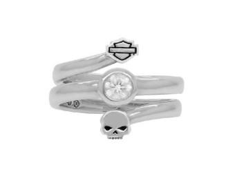 Ring B&S Skull Split Twist Ring