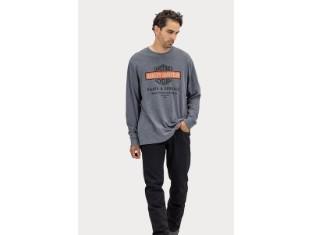 Herren Shirt 'Oil Can Bar & Shield Slub Jersey Graphic'