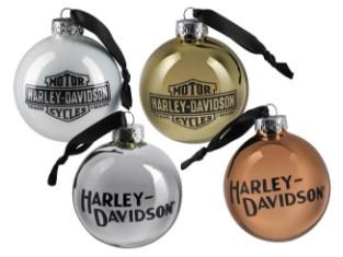 Baumkugeln 4er Set  Harley-Davidson Trade Mark
