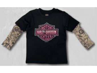 Mädchen T-Shirt mit Tattooärmeln