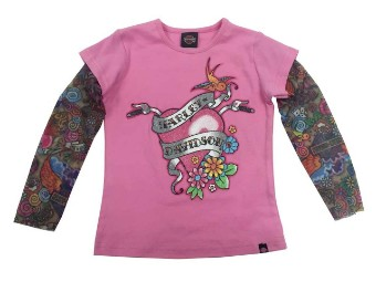 Kinder T-Shirt mit Tattooärmeln