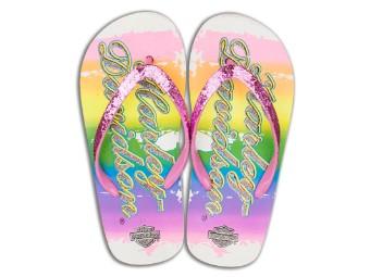 Girls Flip Flops 'rainbow'