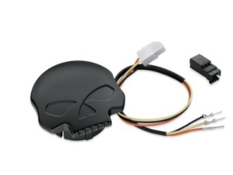 TANKDECKEL – WILLIE G. SKULL LED  SCHWARZ