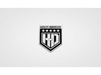 Pin H-D White Shield