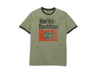 Herren T-Shirt 'Heritage Sign Graphic Novelty Ringer Tee'