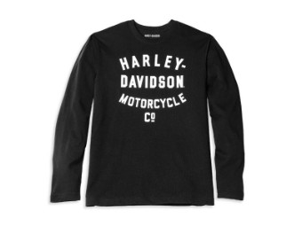 Herren Long Sleeve 'Racer Font Motorcycle Co.'