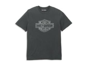 Herren T-Shirt 'Distressed Bar & Shield Graphic'