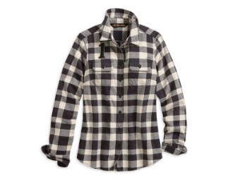 "Bluse ""Studded Logo Buffalo Check Shirt"