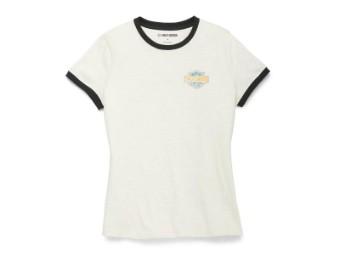 Damen T-Shirt 'Racer Font Ringer Graphic' Limited Edition
