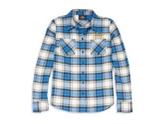 Damen Hemd 'Racer Font Plaid Flannel'