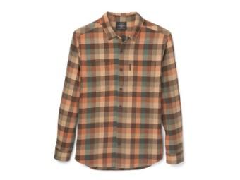 Herrenhemd 'Shed Font Two Pocket Plaid Flannel'