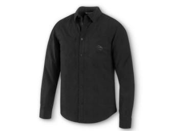 Strukturiertes gewebtes Hemd