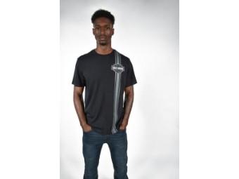Herren T-Shirt 'Vertical Stripe B&S'