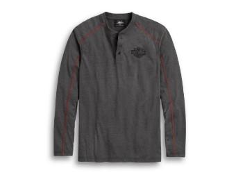 Shirt Langarm Contrast Stitch