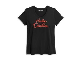 Damen T-Shirt 'Script'