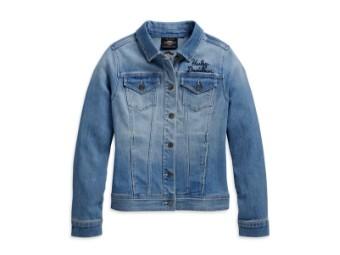 Jeans Damen Jacke 'Winged Logo'