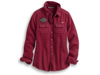 "Bluse ""Studded Red Plaid`"""