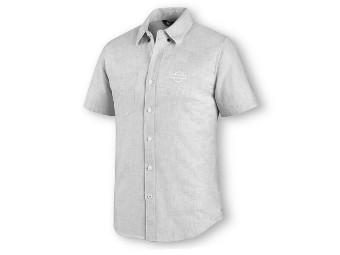 Melange Hemd mit Knopfleiste