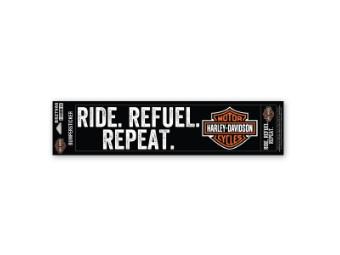 Bumpersticker RideRefuelRepeat
