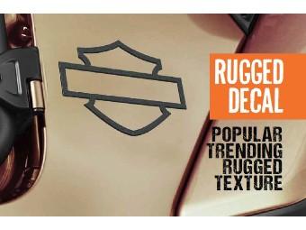 Rugged Bar & Shield Silhouette Die Cut