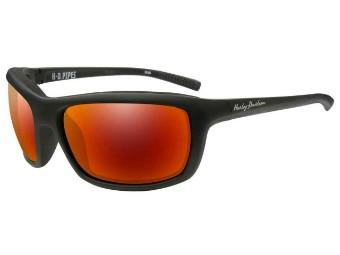 Schutz/Sonnenbrille Pipes rote Linsen