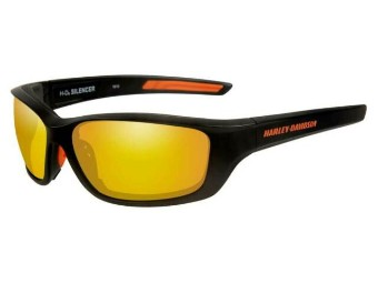 Schutz/Sonnenbrille Silencer orangene Linsen