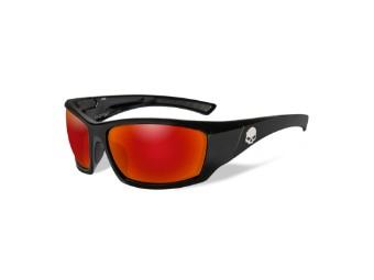 Schutz/Sonnenbrille Tat rote Linsen