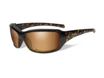 Schutz/Sonnenbrille Tori bronzene Linsen