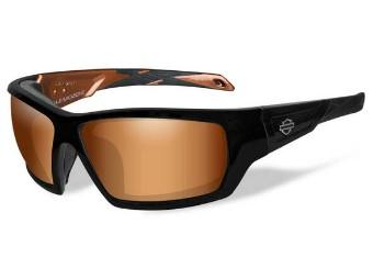 Motorradschutzbrille 'Backbone Brown' Polarisiert