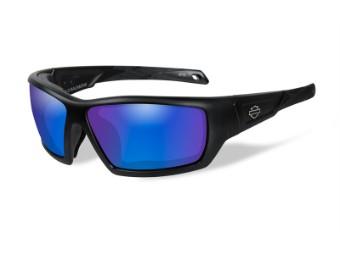 Motorradschutzbrille 'Backbone Blue Mirror'