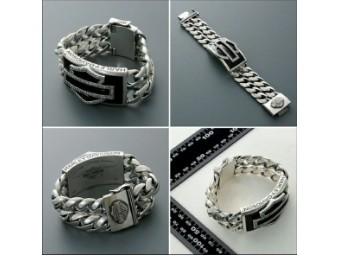 Massives 925er Silberarmband von Thierry Martino