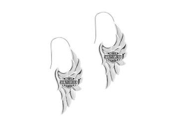 Ohrhänger Harley-Davison im Flügel