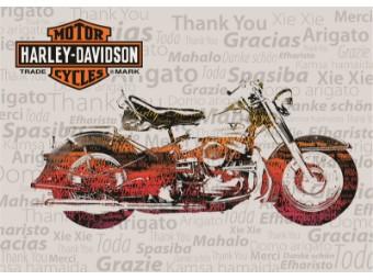 Grußkarte zur Danksagung 'Nostalgic Bike'
