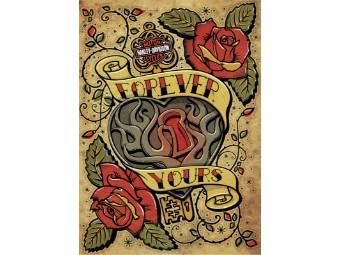 Grußkarte zum Valentinstag 'Forever Yours'