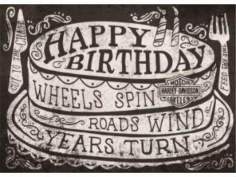 Grußkarte zum Geburtstag 'Roll on'