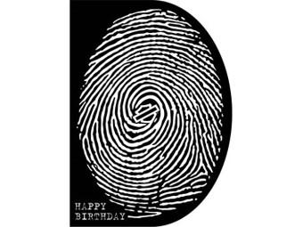 Grußkarte zum Geburtstag 'Fingerprint'