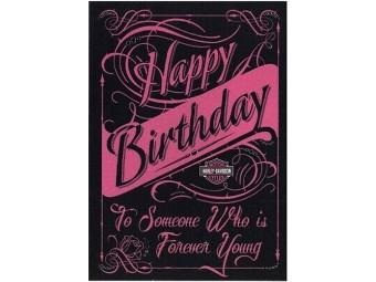 Grußkarte zum Geburtstag 'Forever Young'