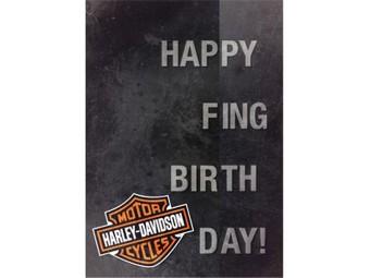 Grußkarte zum Geburtstag 'Happy F-ING Birthday'