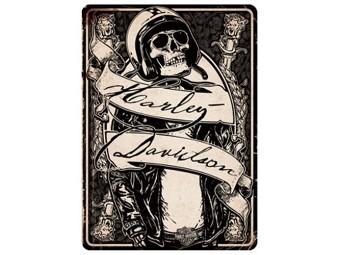 Grußkarte zum Geburtstag 'Sceleton Rider'