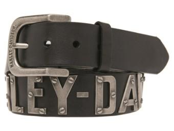 Metal Font Harley-Davidson Herrengürtel